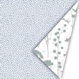 Kado zakjes | spring cubes  blauw salie | 12 x 19cm | 10stk
