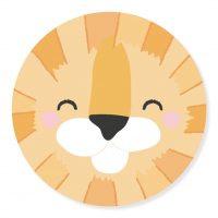 Sticker - snuit Leeuw | 50mm | 10stk