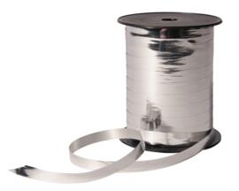 Krullint - metallic | zilver | 10mm | 5m