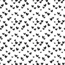 Vloeipapier - tissuepapier | wit met zwarte hartjes  multi | 50x70cm | 5stk