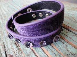 BIBA Armband / Purple met swarovski steentjes