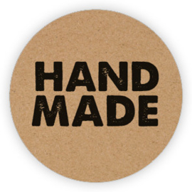 Sticker sluitzegel | kraft handmade - 10stk