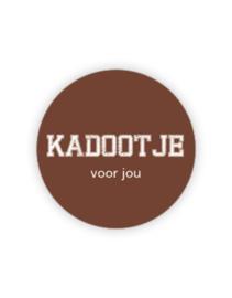 Sticker rond - Kadootje voor jou | coffee | 35mm | 10stk