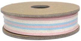 EI 3242 Band 3 meter spoel deck chair pink cream
