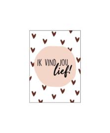 Mini - kaartje | Ik vind jou lief!