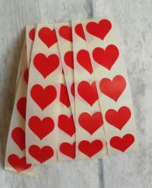 Sticker - mini hart / rood / 15mm / 25 stk