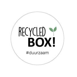 Sticker sluitzegel  - Recycled box | 50mm | 20stk