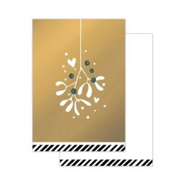Klein kaartje - kerst - mistletoe