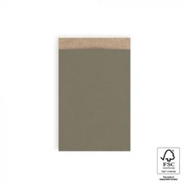 Zakjes kraft | olive green | 12x19cm | 5stk