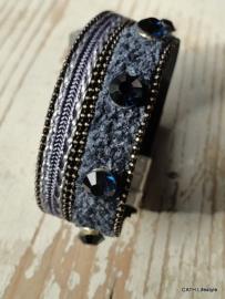 Armband met steentjes blue