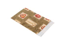 Cadeau zakjes - Sint   Mijter /staf   17x25cm   5stk