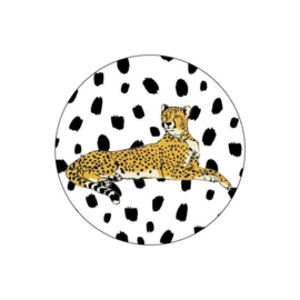 Stickers | luipaard - cheeta | liggend zwart wit dots - 15tk