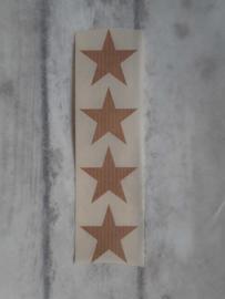 Stickers / ster kraft  / 35mm / 20stk