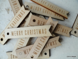 "Label ""Merry Christmas"""