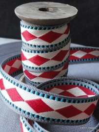 ZA 052 Harlequin band/ lint 3m op houten spoel