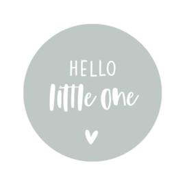 Sticker sage green - hello little one | 45mm | 10stk
