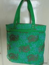 Shopper / groen draken print / ga