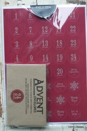 Stickers  Advent | kalender  | set met enveloppen / EI 3343