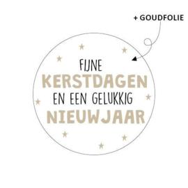Sticker sluitzegel - kerst   Fijne feestdagen en een gelukkig nieuwjaar   20stk