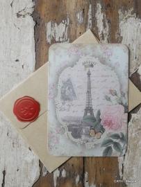 Kaart met envelop / Vintage Paris / CE