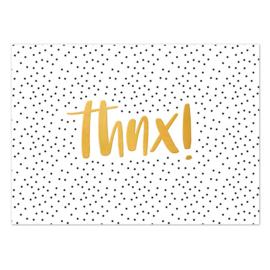 Ansichtkaart goud folie | thnx