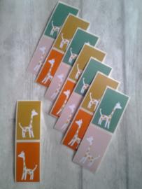 Stickers - sluitzegels Jessica Nielsen Giraffe / 20stk