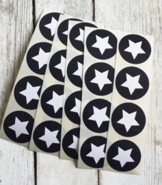 Stickers ster zwartwit | 20stk
