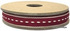 EI 3021 Band 3 meter spoel rood met creme stiksel