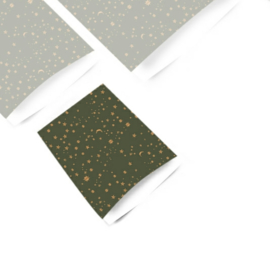 Kado zakjes | Galaxy sterren green | 7x13cm | 5stk