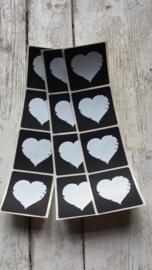Sticker  -schoolbord - Hart / 20 stk