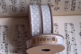 EI 3065 Band 3 meter spoel creme met stippen