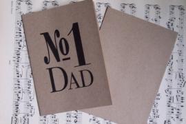 Kaart met envelop /  No. 1 Dad / EI