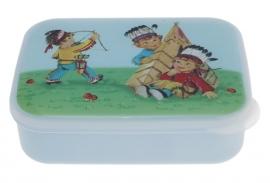 Lunchtrommel   / blauw met indianen