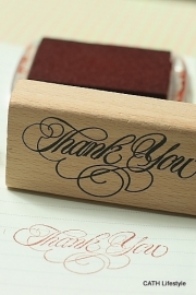 "Stempel  / ""Thank You"" Vintage style"
