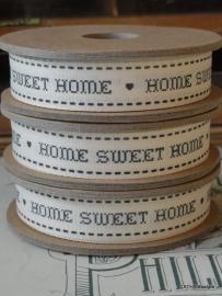 WE1 Lint 3 meter spoel Home Sweet Home grijs
