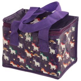 Koeltasje / Lunchbag - Betoverde Regenboog Eenhoorn