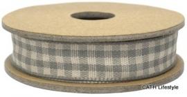 EI 3090 Band 3 meter spoel grey / creme geruit