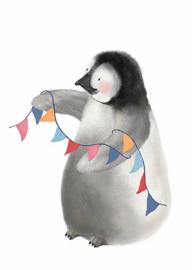 Kaart - Pinguïn | inclusief envelop