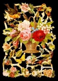 ME 7157 Poezie plaatjes mand bloemen