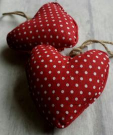 Hartjes rood met witte stippen - pstk