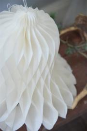 Kerstklok - Honinggraad - wit in 3 maten