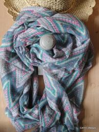 Zomerse sjaal zigzag