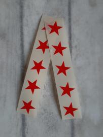 Stickertjes mini ster rood | 25 stk