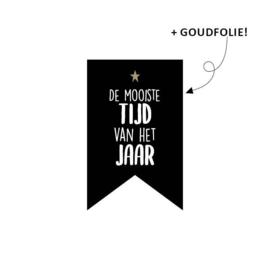 Sticker sluitzegel vaantje - de mooiste tijd van het jaar | 10stk