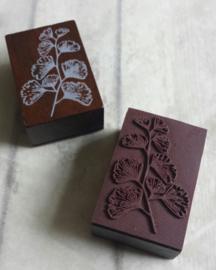 Houten stempel / plant