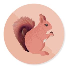 Sticker - Eekhoorn | 50mm | 10stk