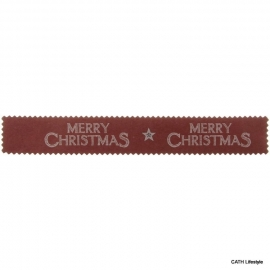 Papieren slinger Merry Christmas rood/blauw - EI 1991