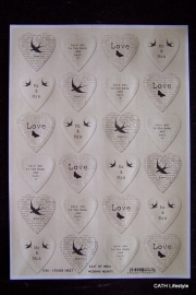Stickers wedding hearts | EI 1745