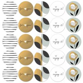 Sticker sluitzegel mix - Arst & Craft Cool | 50mm | 10stk