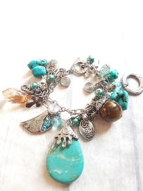 Armband | turquoise bedel